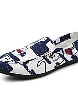 Для мужчин Мокасины и Свитер Удобная обувь Обувь для дайвинга Весна Осень Деним Повседневные На плоской подошве Красный Синий На плоской