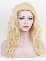 Women Synthetic Wig Capless Long Curly Water Wave Blonde Silk Base Hair Party Wig Celebrity Wig Halloween Wig Cosplay Wigs Costume Wigs