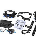 andoer c500 aleación de aluminio cámara videocámara videocámara kit de montaje sistema de fabricación de película con 15mm barra de caja