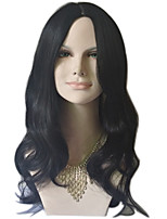 Natural Wave Long Length Black/Brown Color Fashion Daily Wig for European and American Women Heat Resistant