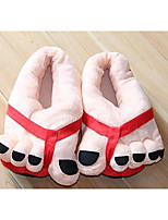 Для женщин Обувь Бархатистая отделка Зима Флисовая подкладка Тапочки и Шлепанцы На плоской подошве Закрытый мыс С Назначение Повседневные