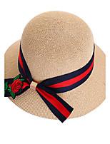 Для женщин На каждый день Шляпа от солнца,Лето Солома Пэчворк