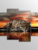 Canvas Print Abstract,Four Panels Canvas Vertical Print Wall Decor For Home Decoration