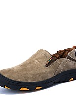 Men's Shoes Pigskin Fall Winter Comfort Loafers & Slip-Ons With Split Joint For Casual Khaki Coffee Gray