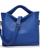Women Bags All Seasons Poly urethane Tote with Rivet for Formal Office & Career Blue Black Orange Fuchsia Coffee