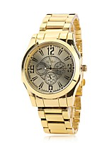 Men's Dress Watch Fashion Watch Wrist watch Chinese Quartz Alloy Band Charm Elegant Casual Gold