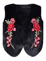 Для женщин На выход На каждый день Большие размеры Зима Пальто с мехом Круглый вырез,Очаровательный Панк & Готика Шинуазери (китайский