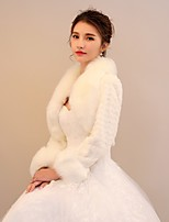 Women's Wrap Shrugs Rabbit Fur Faux Fur Wedding Party/ Evening Pattern / Print Polka Dot