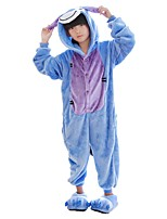 Kigurumi Pajamas Donkey Festival/Holiday Animal Sleepwear Halloween Fashion Solid Color Embroidered Flannel Fabric Coat Cosplay Costumes