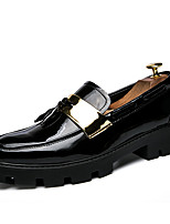 Men's Loafers & Slip-Ons Comfort Spring Summer Leatherette Casual Black White Flat