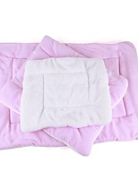 Cat Dog Bed Pet Mats & Pads Solid Keep Warm Foldable Soft Blushing Pink Blue