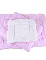 Кошка Собака Кровати Животные Коврики и подушки Однотонный Сохраняет тепло Складной Мягкий Синий Розовый