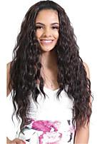 жен. Парики из натуральных волос на кружевной основе Бразильские волосы Натуральные волосы Реми Лента спереди 360 Лобовой Бесклеевая