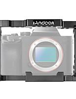 protector del estabilizador de la jaula de la cámara de vídeo del andoer con la manija superior para la videocámara mirrorless de a7ii