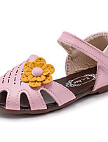 Girls' Sandals Comfort Summer Leatherette Casual Blushing Pink Beige Flat