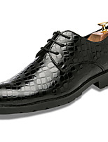 Men's Shoes Nappa Leather Spring Fall Comfort Formal Shoes Oxfords For Party & Evening Office & Career Black Blue