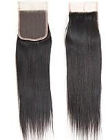 верхние 7a виргинские бразильские волосы 10-20 верхняя часть закрутки кружева прямой размер 4x4 естественный цвет свободное закрытие части