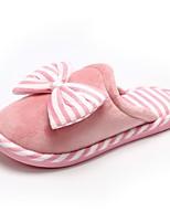 Для женщин Тапочки и Шлепанцы Удобная обувь Флисовая подкладка Зима Мех Повседневные Бант На плоской подошве Оранжевый Зеленый Розовый На
