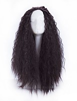 Women Synthetic Wig Capless Long Curly Black African American Wig Party Wig Halloween Wig Cosplay Wigs Natural Wig Costume Wig