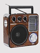 RA-200 Rádio portátil Lanterna Cartão TFWorld ReceiverMarron
