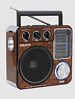 RA-200 Radio portatil Linterna Tarjeta TFWorld ReceiverMarrón