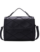 Women Bags All Seasons PU Shoulder Bag with for Casual Office & Career Black Red Beige