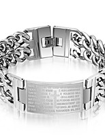Муж. Браслеты-цепочки и звенья Панк Rock Титановая сталь Крестообразной формы Бижутерия Назначение Для вечеринок