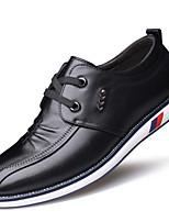 Masculino Oxfords Conforto Sapatos formais Outono Inverno Pele Real Couro Casual Fru-Fru Cadarço Rasteiro Preto Marron Rasteiro