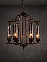 retro-industrial de estilo retro lámpara de inspiración retro estilo minimalista restaurante de café club de seis lámparas de hierro