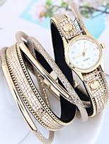 Жен. Модные часы Часы-браслет Кварцевый Кожа Группа Повседневная Черный Белый Красный Коричневый Розовый