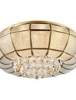 европейский стиль все-медь абсорбция лампа атмосфера американская гостиная бронза лампа современная простая столовая круглая светодиодная