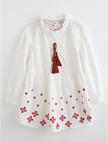 Girls' Embroidered Blouse,Cotton Fall Long Sleeve