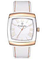 Women's Kid's Fashion Watch Chinese Quartz Large Dial Leather Band Casual White