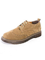 Men's Oxfords Comfort Spring Fall Suede Casual Army Green Light Yellow Gray Flat