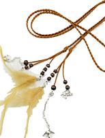 Для женщин Платье Пояс Цепочка,Меховая оторочка Сексуальные платья Мода Сплав Ткань Другой Однотонный