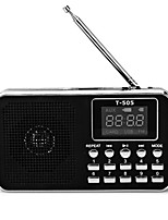 T-505 Radio portable Lecteur MP3 Torche Carte TFWorld ReceiverNoir