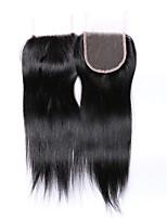 12 pulgadas grado 8a 4x4 encaje tapa cierre 100% cabello humano brasileño 3 parte / parte media / parte libre # 1b cierre de cabello negro
