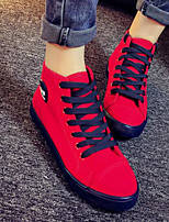 Women's Shoes Canvas Spring Fall Comfort Sneakers For Casual Red Gray White