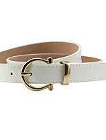 Women's Alloy Others Skinny BeltWaterproof Dress Belt Solid Shiny Metallic Sexy