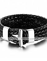 Муж. Жен. Кожаные браслеты Хип-хоп Rock Кожа Титановая сталь В форме животных В форме линии Бижутерия Назначение Для вечеринок День