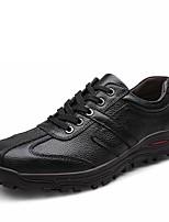 Для мужчин Туфли на шнуровке Удобная обувь Осень Зима Дерматин Кожа Повседневные Комбинация материалов На плоской подошве На низком