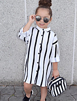 Girls' Striped Shirt,Cotton Summer All Seasons Half Sleeve Long