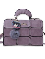 Women Bags All Seasons PU Shoulder Bag with for Casual Office & Career Black Gray Purple Dark Red