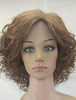 Women Synthetic Wig Capless Medium Curly Copper Brown Middle Part Party Wig Natural Wig Costume Wigs