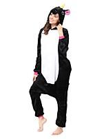 Кигуруми Пижамы Unicorn трико/Комбинезон-пижама Фестиваль / праздник Нижнее и ночное белье животных Хэллоуин Черный Черный Животное