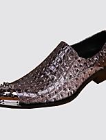 Homme Chaussures Cuir Nappa Printemps Automne Confort Nouveauté Mocassins et Chaussons+D6148 Rivet Pour Mariage Soirée & Evénement Gris