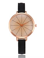 Women's Fashion Watch Wrist watch Unique Creative Watch Chinese Quartz PU Band Charm Casual Black White Blue Red Brown Gold Pink