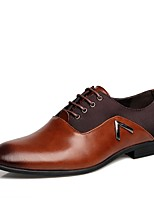 Men's Shoes Real Leather Leather Fall Winter Comfort Formal Shoes Oxfords Gore For Casual Outdoor Office & Career Work & Safety Black