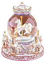 Music Box Carousel Cartoon Toughened Glass