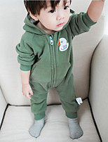 Baby Solid Cartoon One-Pieces,Cotton Fall
